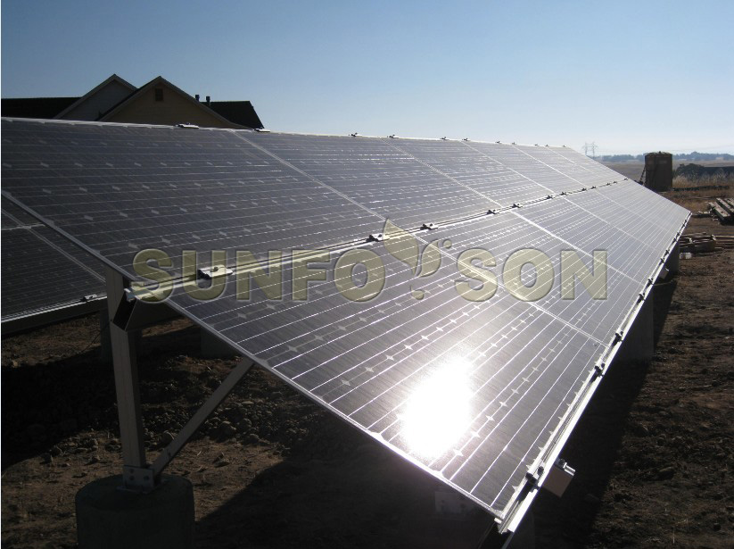 solar aluminum ground mounting structure