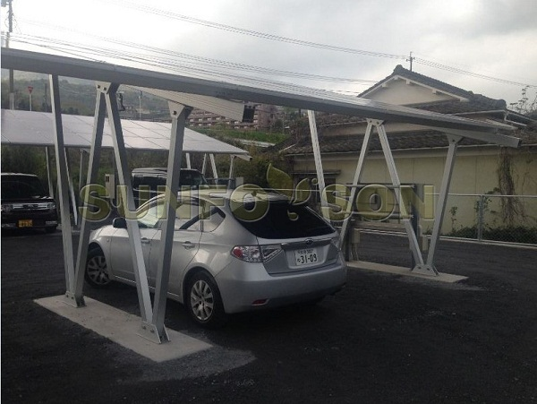 solar aluminum carport mounting solution