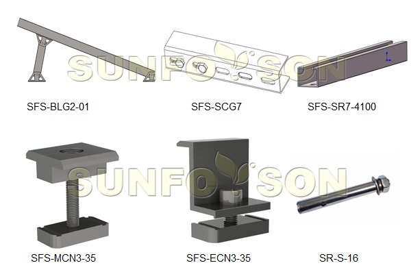 solar flat roof mounting systems