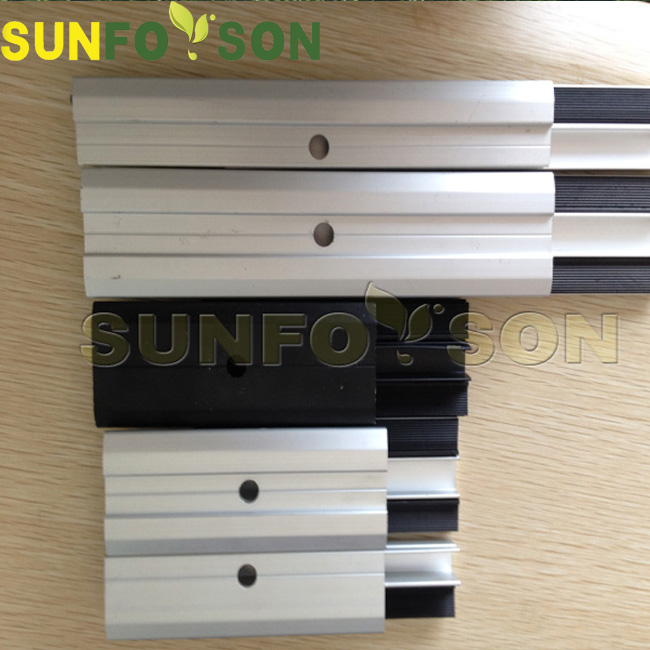 Thin Film Solar Clamp Photovoltaic Mounting Frameless Solar Mid Clamp End Clamp