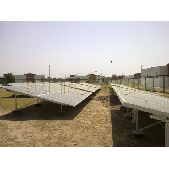 Concrete base solar ground mounted